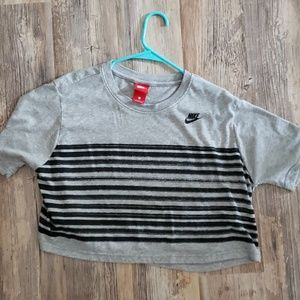 Nike stripped crop top